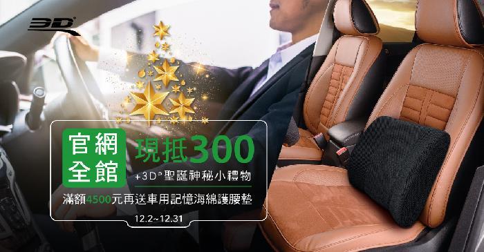 ▍送NT300購物金&小禮,滿額加贈車用護腰墊