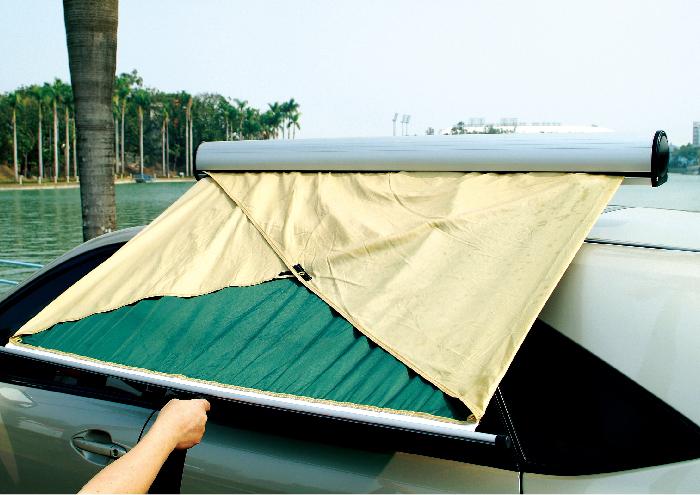 自動捲起遮陽棚